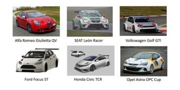 Alguns modelos elegiveis para o TCR (foto in: touringcartimes.com)