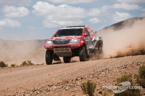 Giniel De Villiers races during stage 10 of Rally Dakar 2015 from Calama,Chile to Cachi Salta, Argentina on January 14th, 2015 // Flavien Duhamel/Red Bull Content Pool // P-20150114-00171 // Usage for editorial use only // Please go to www.redbullcontentpool.com for further information. //