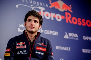 Carlos Sainz (Scuderia Toro Rosso Pilot) talks during the Press Conference about his announcement as F1 driver in Madrid, Spain on November 29th, 2014
