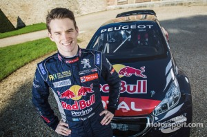 Timmy Hansen poses for a portrait with the 2015 season Rallycross Peugeot 208 in Meudon, France on April 6th, 2015 // Flavien Duhamel/Red Bull Content Pool // P-20150408-00213 // Usage for editorial use only // Please go to www.redbullcontentpool.com for further information. //